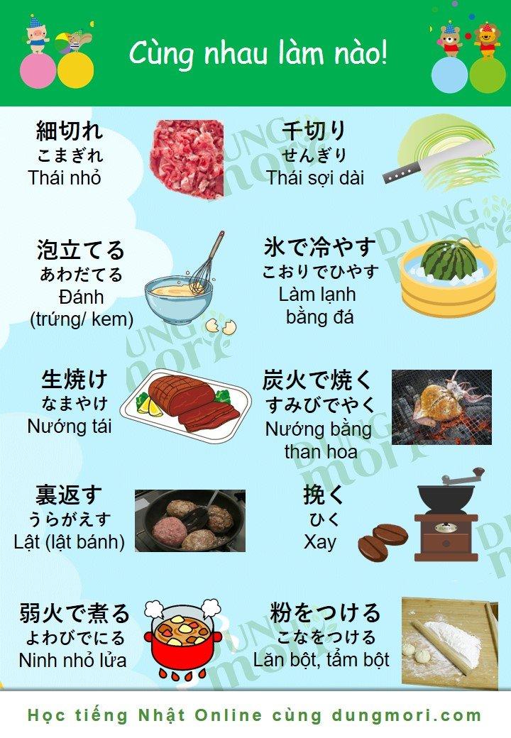 Từ vựng về nấu ăn