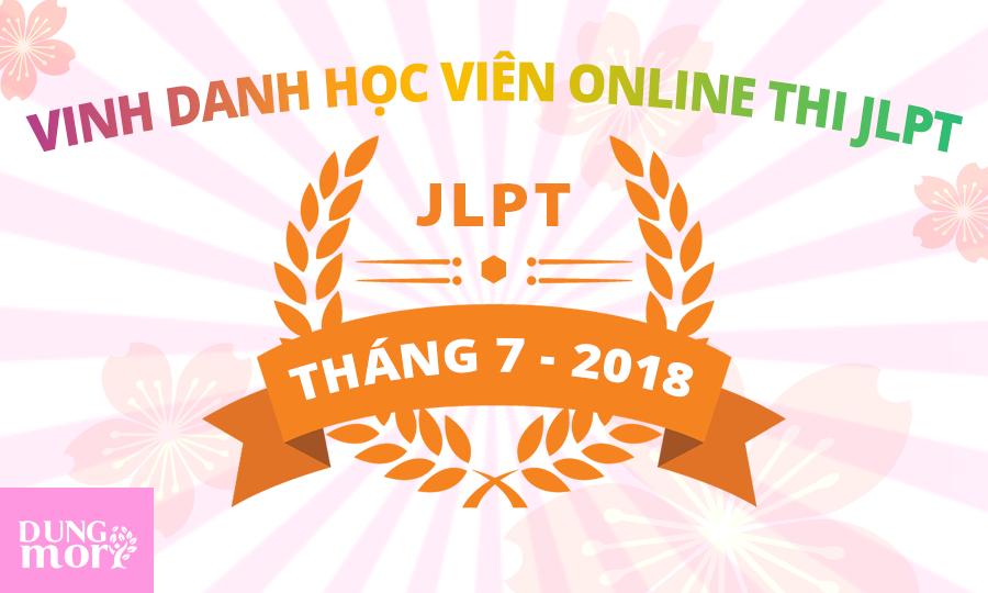 Danh sách học viên online của Dũng Mori thi đỗ và đạt điểm cao kì thi JLPT 07/2018