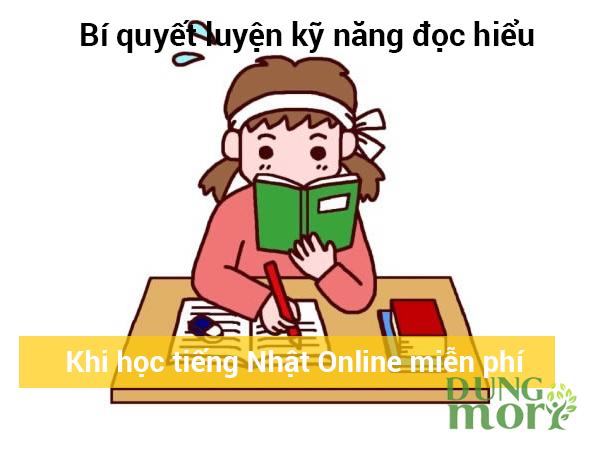 Bí quyết luyện kỹ năng đọc hiểu khi học tiếng Nhật online miễn phí