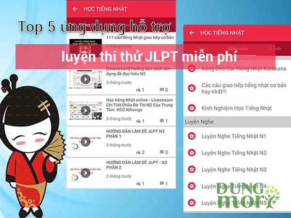 Top 5 ứng dụng hỗ trợ luyện thi JLPT miễn phí tại Hà Nội hiệu quả