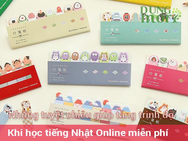 Những tuyệt chiêu giúp tăng trình độ khi học tiếng Nhật online miễn phí
