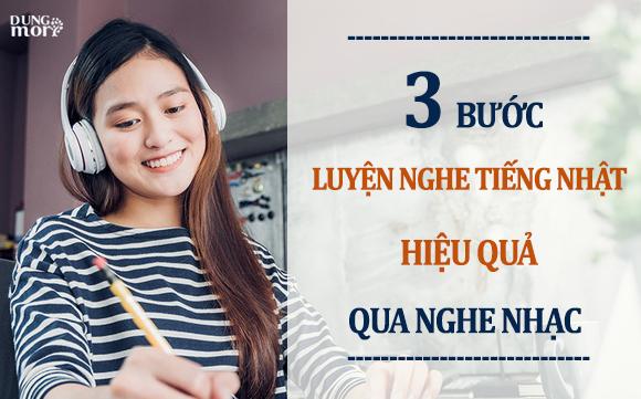 3 bước luyện nghe tiếng Nhật hiệu quả qua nghe nhạc
